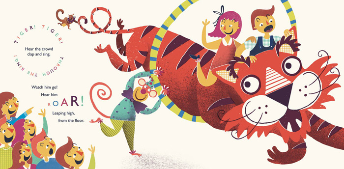 Rachael Saunders: Otto's Circus Illustration Series | Design Work Life