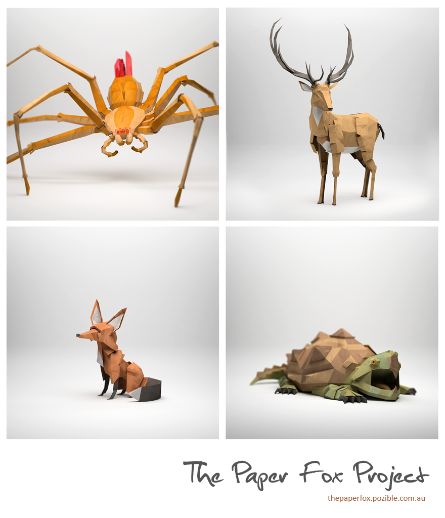 The Paper Fox Project - 3d Graphics - Creattica