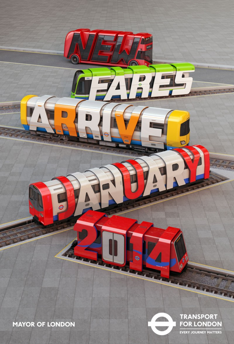 Transport for London, New Fares, Poster @ ShockBlast