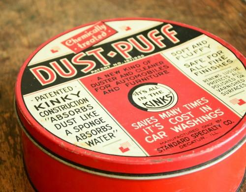 Dust Puff Tin, 1940s | Vintage Me Oh My