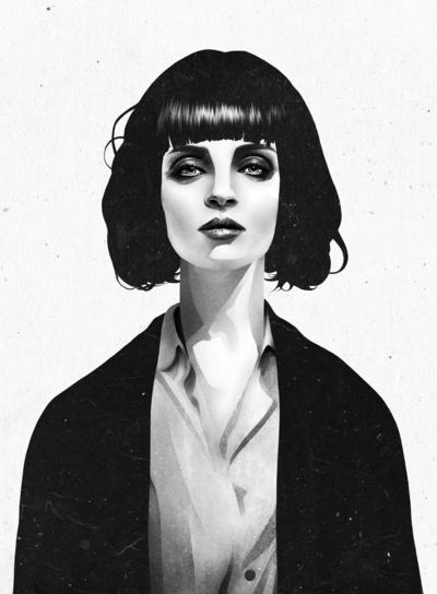 Mrs Mia Wallace Art Print by Ruben Ireland | Society6