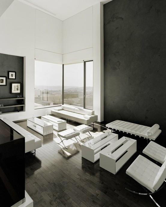 monochrome spaces. / Abu Samra House by Symbiosis Designs