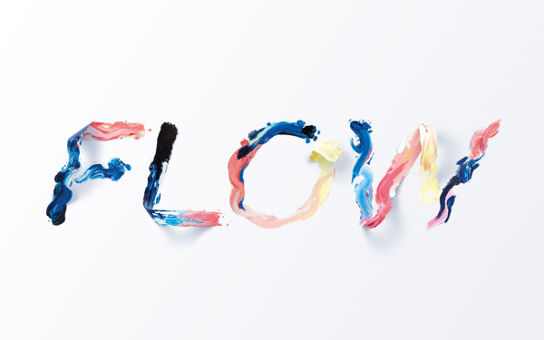 Flow — Typographic illustration on
