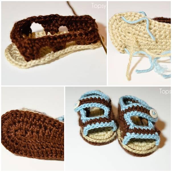 DIY Crochet Baby Sandals DIY Projects | UsefulDIY.com