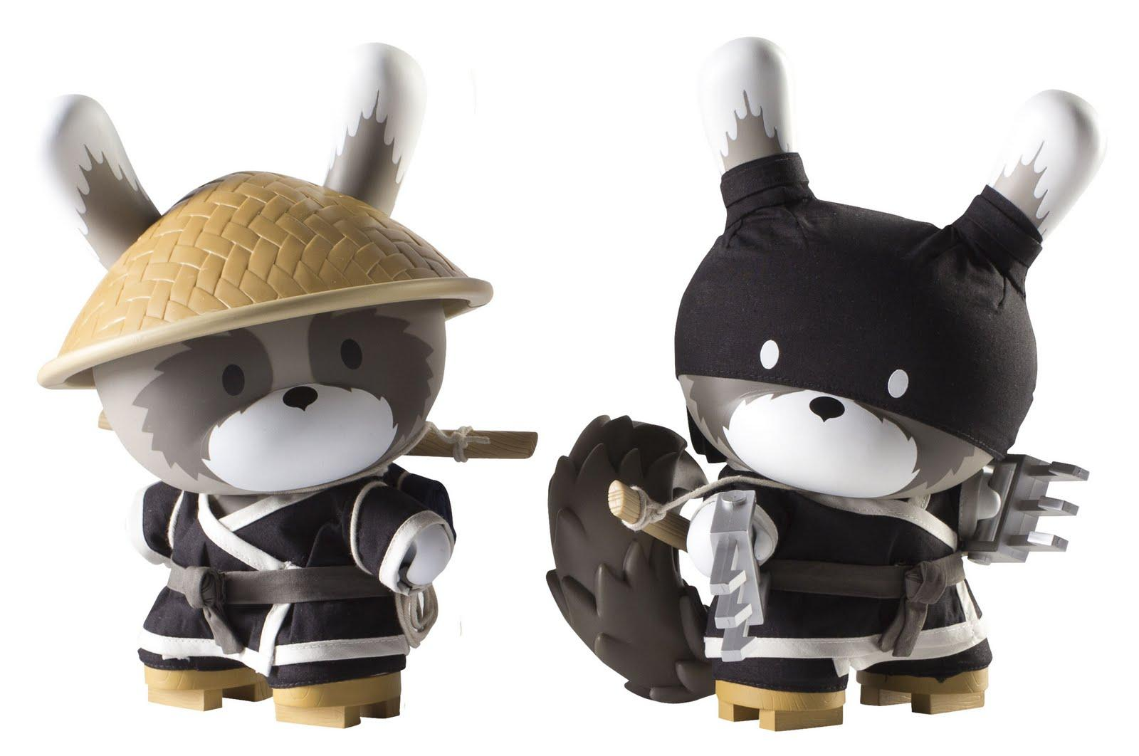 Kidrobot Day & Night Black Raku 8 Inch Dunnys by Huck Gee | IAMFATTERTHANYOU.COM