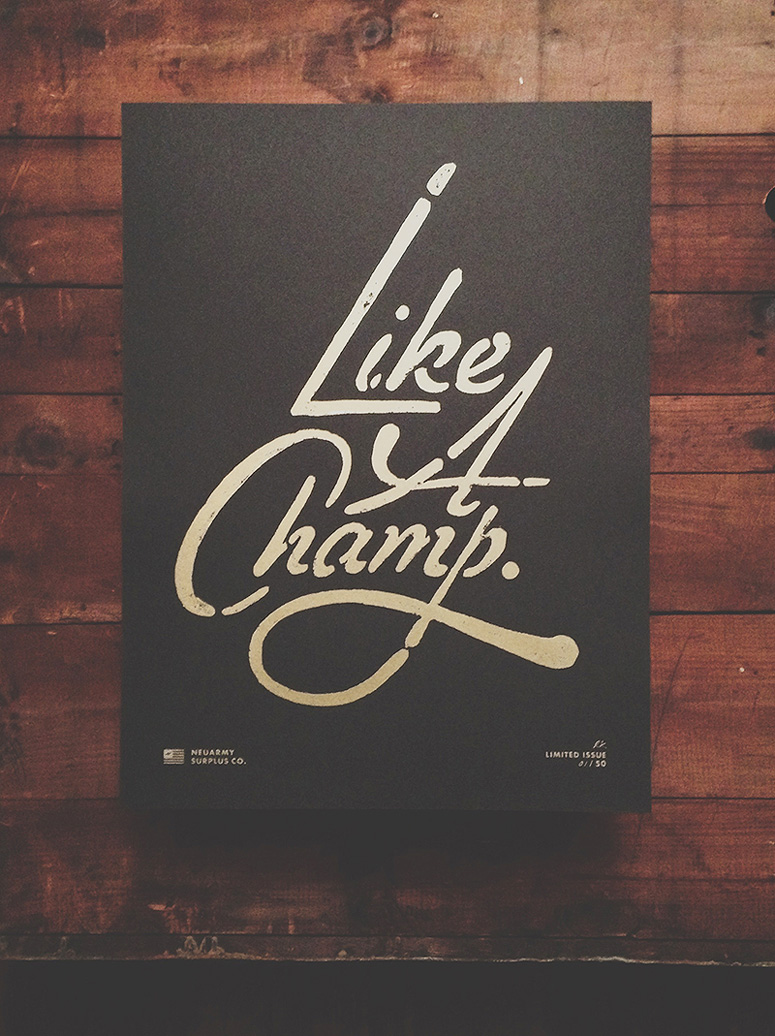 FPO: Like a Champ Poster | Inspiration DE