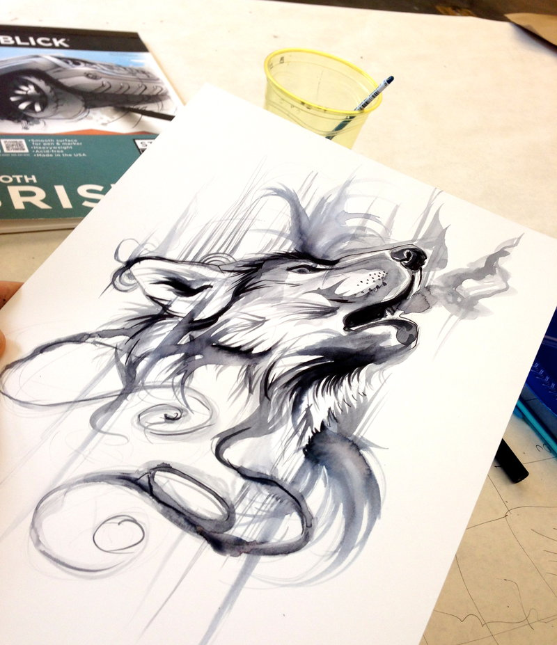 Ink Wash by Lucky978 on deviantART | Inspiration DE