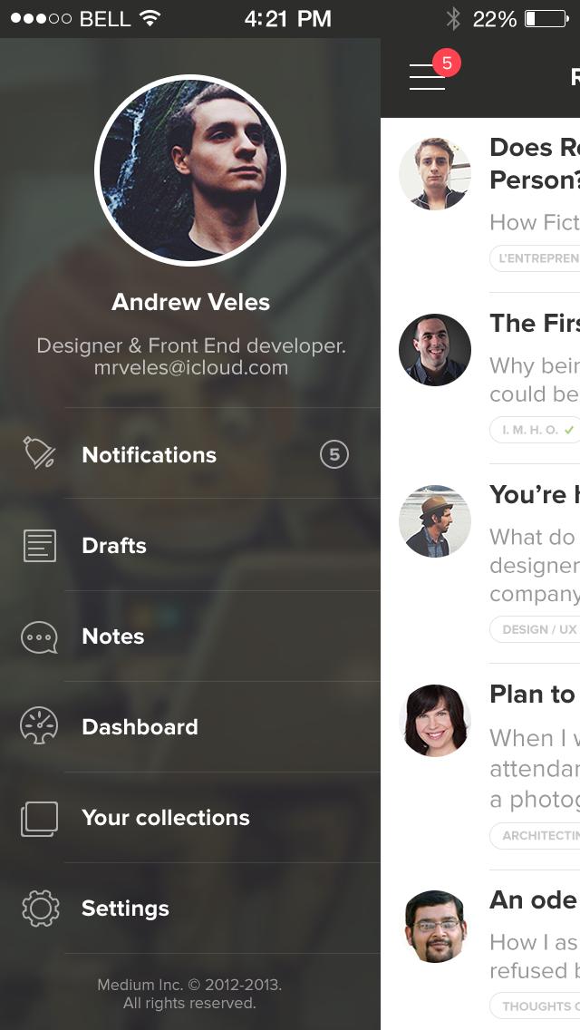 Medium for iPhone | Inspiration DE