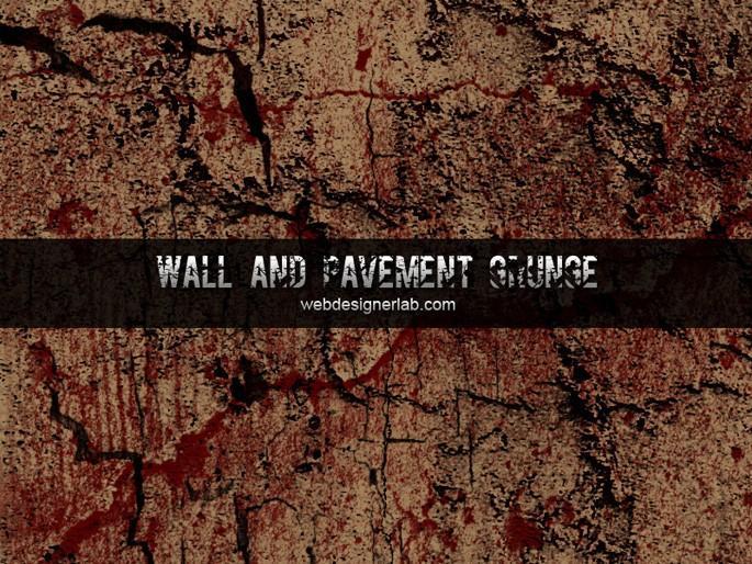 Walls and Pavement Grunge Brushes | Webdesigner Lab