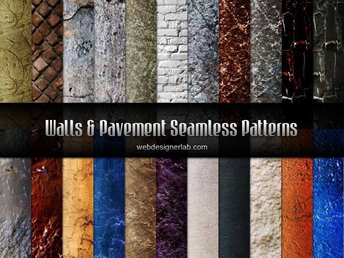Wall and Pavement Seamless Patterns | Webdesigner Lab