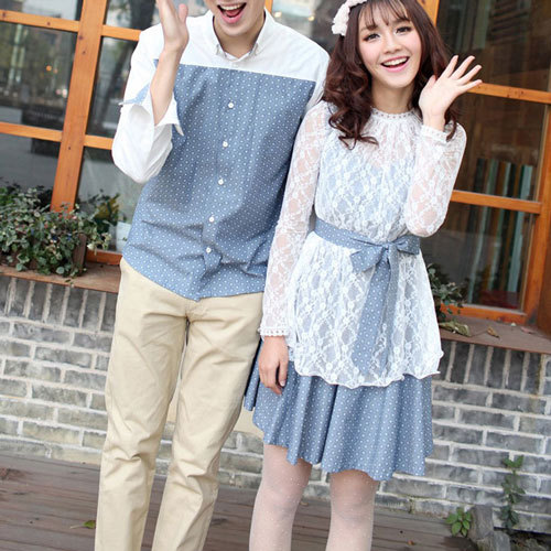 Couple denim dress