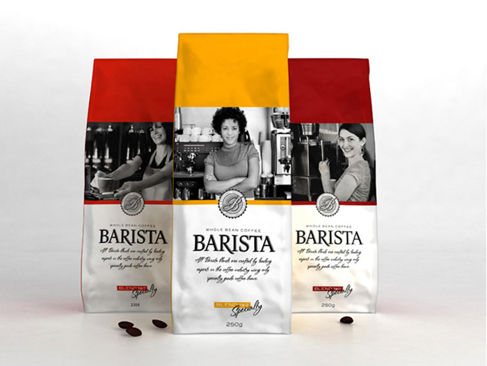 Barista Coffee - TheDieline.com - Package Design Blog