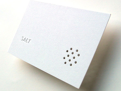 Restaurant business card (2002) by flux