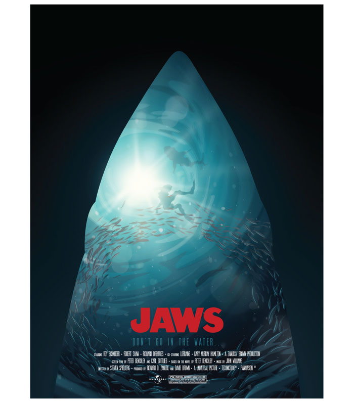 Alternative movie poster for Jaws by Andy Hau