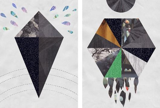 Designspiration — Malin Bergström : Polygons and holograms