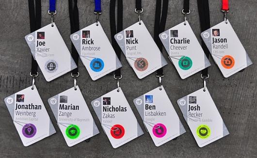 Designspiration — Fonts In Use – f8 Conference Badges
