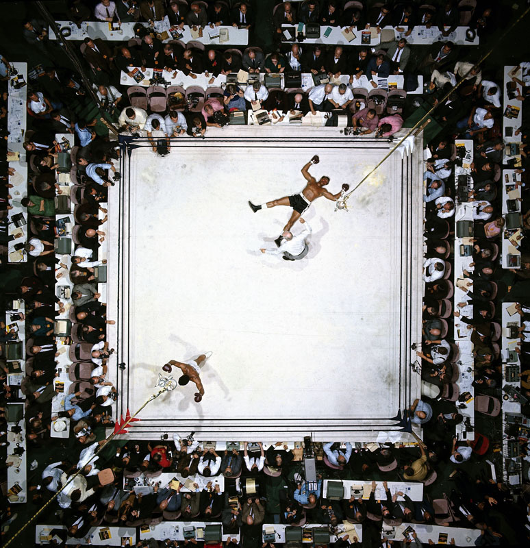 Muhammad Ali beating Cleveland Williams by Neil Leifer