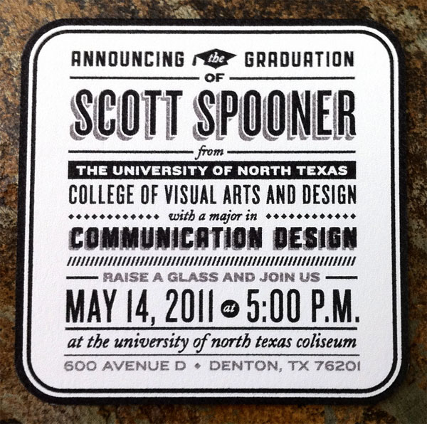 Scott Spooner's Graduation Announcements - FPO: For Print Only