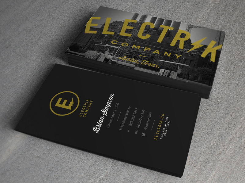 Electrik Company - Business Cards - Business Cards on Creattica: Your source for design inspiration