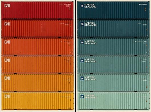 Designspiration — Maersk Sealand Shipping Containers