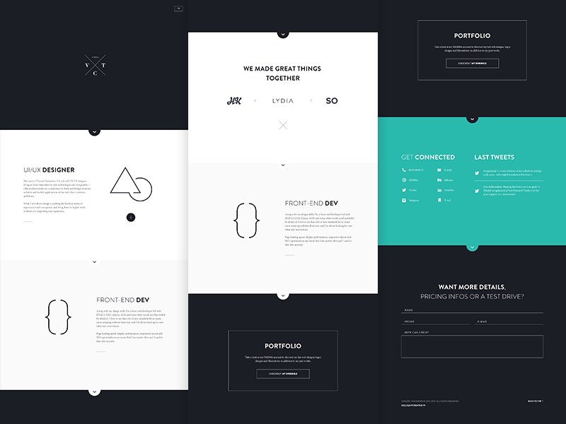 Vtcreative - HTML / CSS on Creattica: Your source for design inspiration