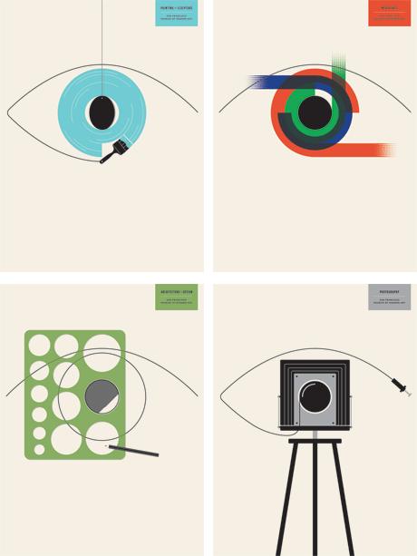 SFMOMA - Four Poster Set - Poster - JASON MUNN