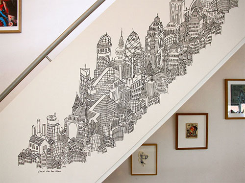 Blog: Drawing the Cityscape in His Head - Doodlers Anonymous
