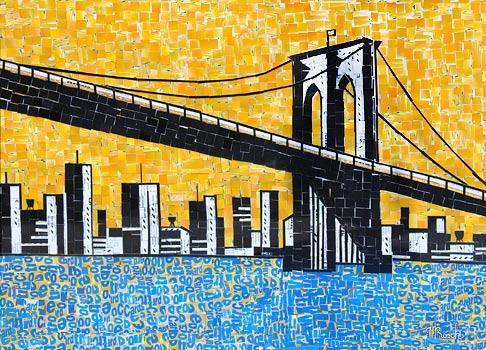 MetroCard Collages by Nina Boesch | Subway Art Blog