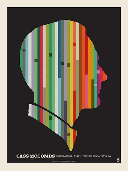 Cass McCombs concert poster by Methane Studios - Methane Studios - Gallery