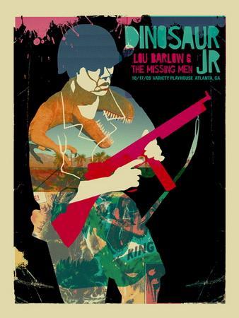 Dinosaur Jr. concert poster by Methane Studios - Methane Studios - Gallery