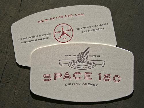 Letterpress business card design | Flickr - Photo Sharing!