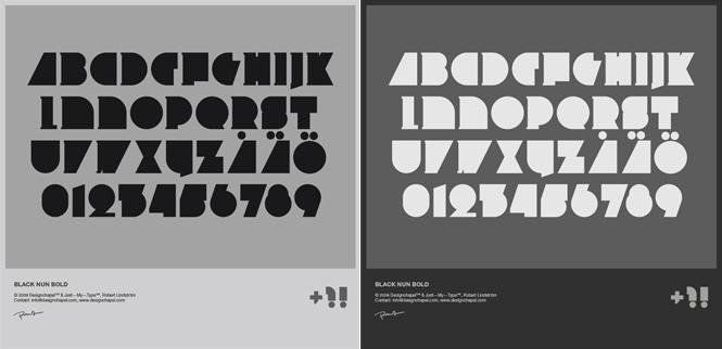 Case #118 / Black Nun Bold typeface | Designchapel™