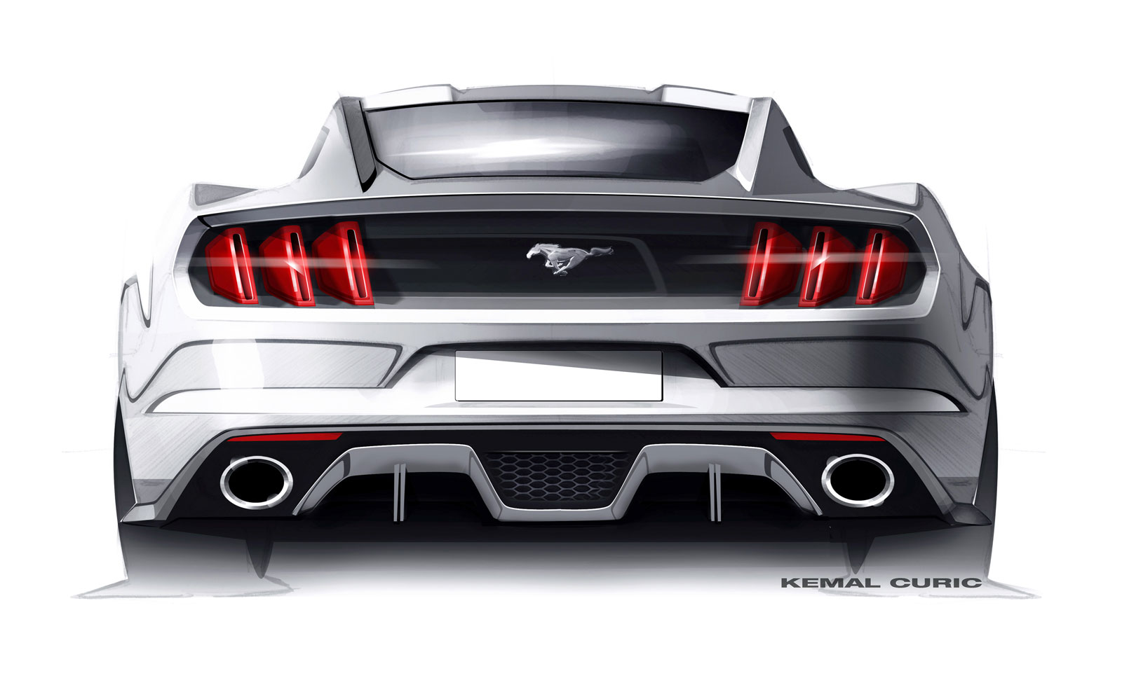 Ford Mustang Design Sketch By Kemal Curic Car Body