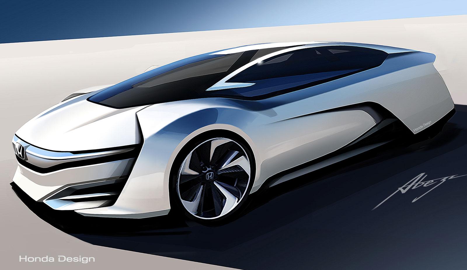 Honda FCEV Concept Design Sketch - Car Body Design