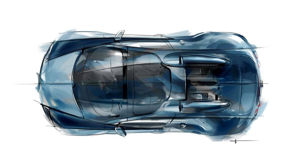 Bugatti Veyron Grand Sport Vitesse Jean-Pierre Wimille Edition - Design Sketch - Car Body Design