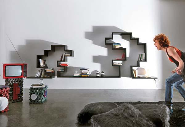 Modular Shelving On The Wall To Make Impression | Home Design | Interior | Architecture | Furniture | Garden