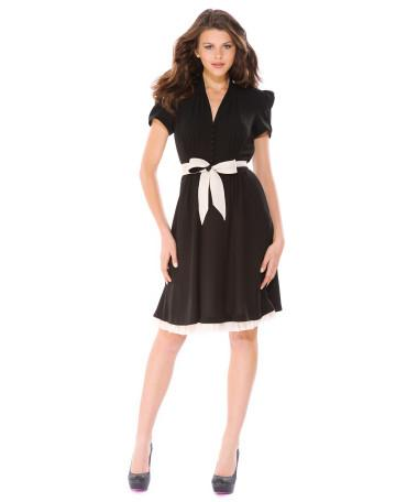 SWEET LITTLE CREPE SHORT SLEEVE DRESS - Betsey Johnson