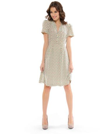 APPLE PRINT SHORT SLEEVE DRESS - Betsey Johnson