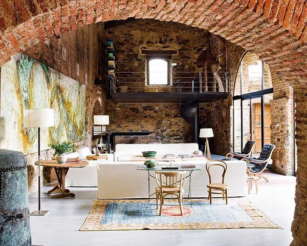 Exquisite Interior Design Within a 12th Century Oil Mill | Cuded