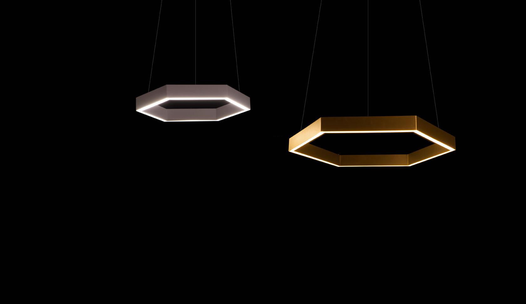 Brass 750 Hex pendant