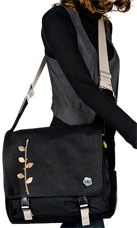 Haiku City Courier Bag Branch (Midnight Black)