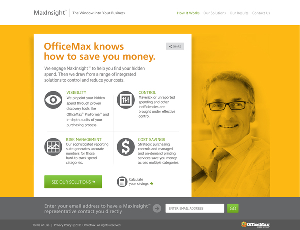 MaxInsight Website on Web Design Served