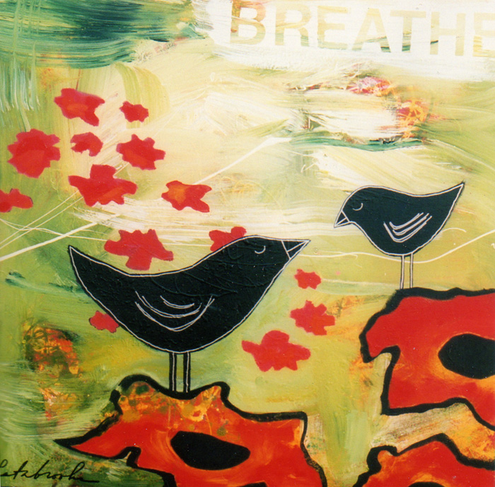 Breathe by Donna Estabrooks - $600, 24x24, Acrylic on Canvas