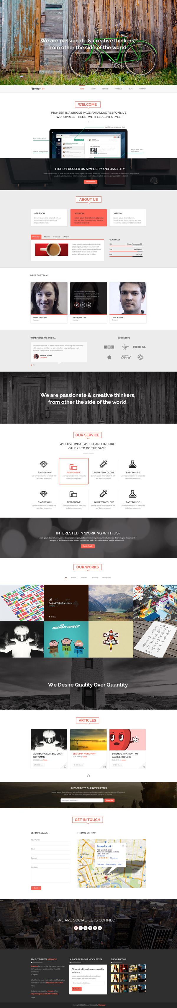 Pioneer_One page Template on