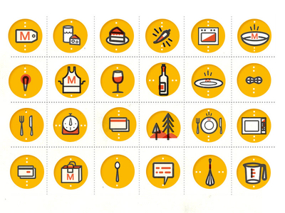 Icons for food by kellianderson