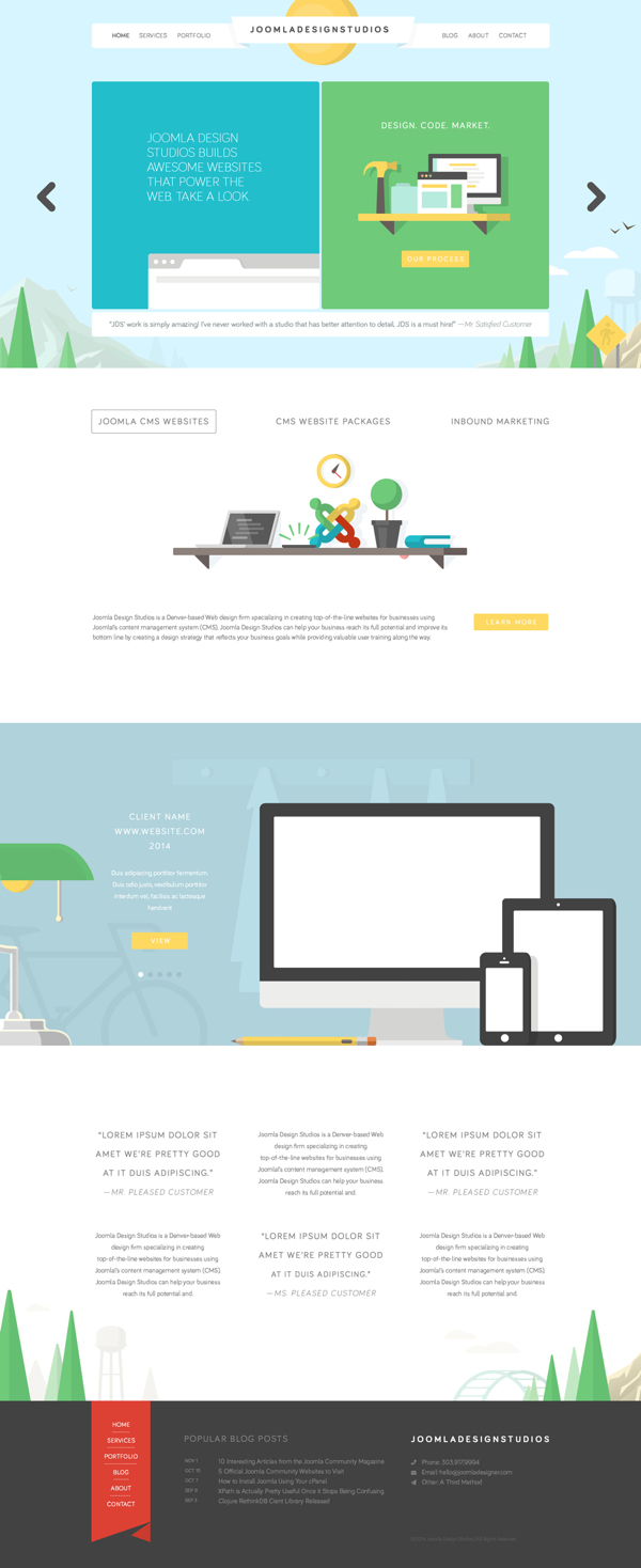 JDS Website Design on