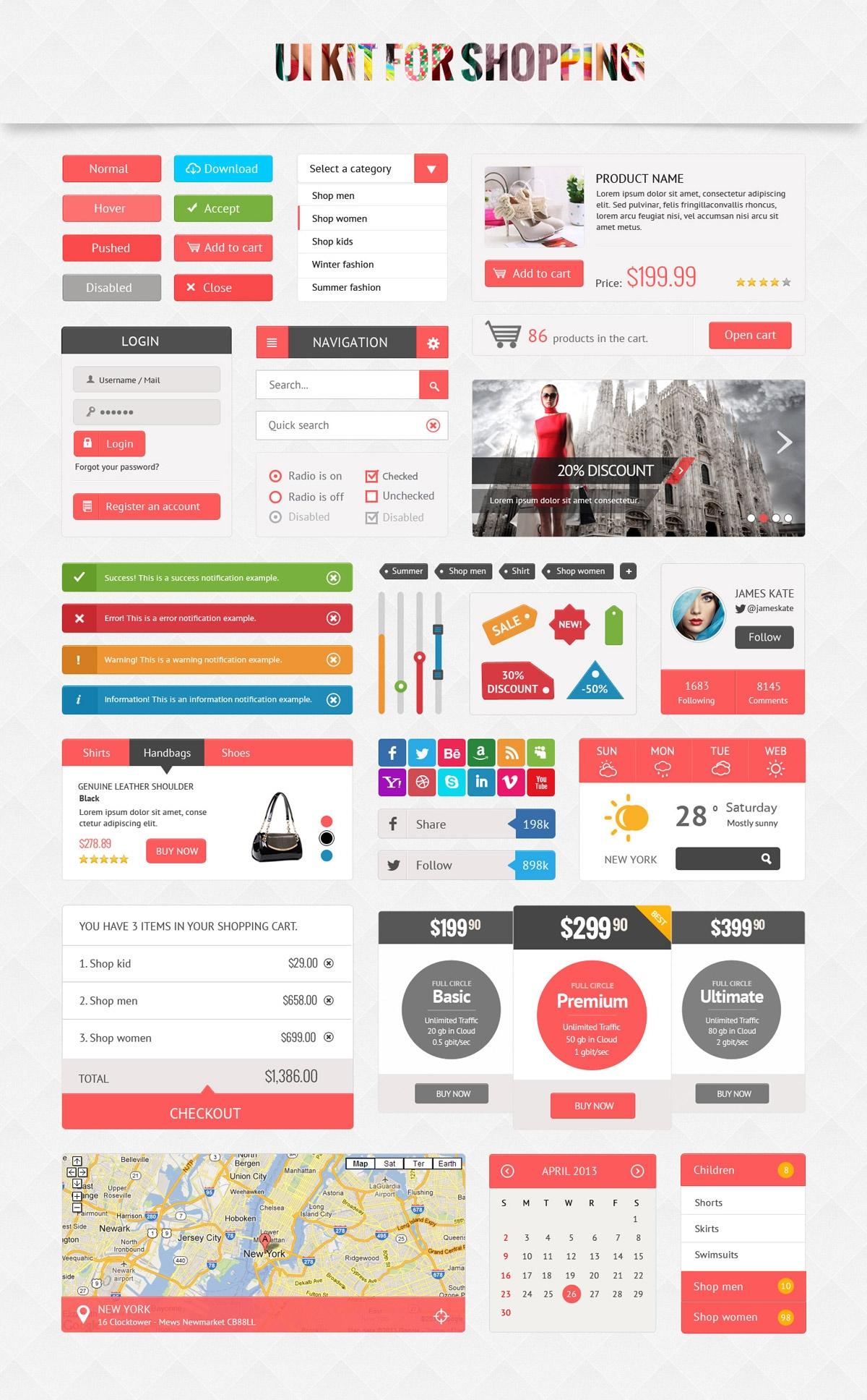 Shopping UI Kit