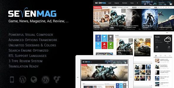 WordPress - SevenMag - Blog/Magzine/Games/News Wordpress Theme   ThemeForest