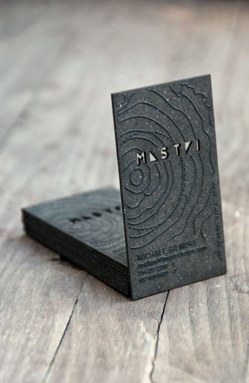 Unique Business Card for Michael Gilmore from Mastri Design. Created by StudioEQ. | Inspiration DE