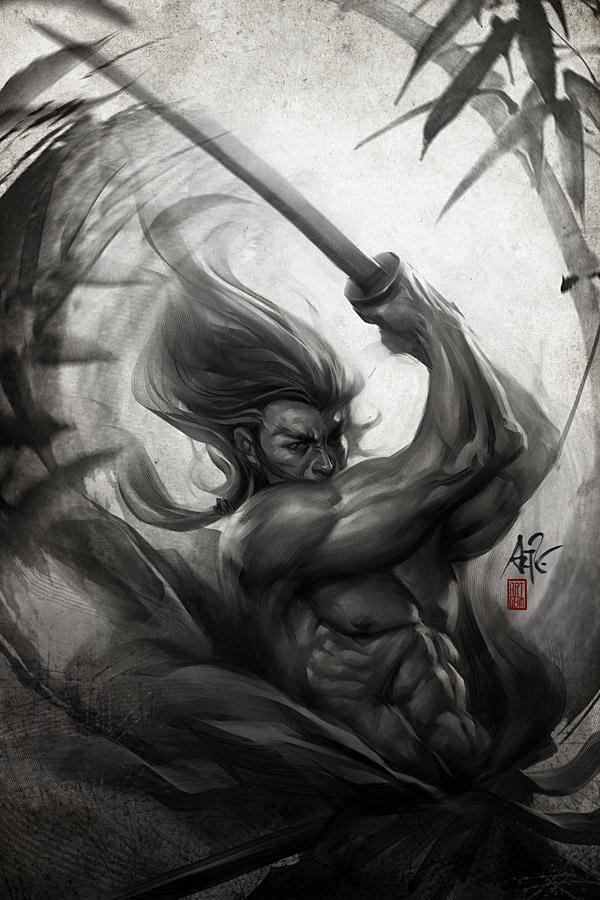 Samurai Spirit - Aura by `Artgerm